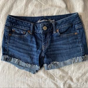 Medium Wash Jean Shorts